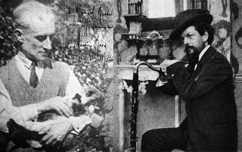 Ravel, su gato Mouni y Claude Debussy