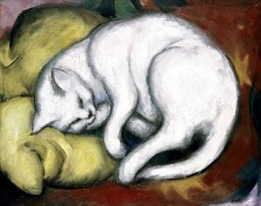 Gato en cojín amarillo (1911)