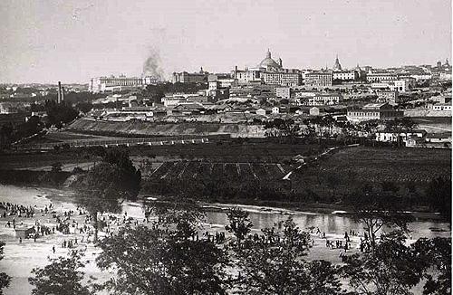 Madrid visto desde la Pradera de San Isidro en 1905