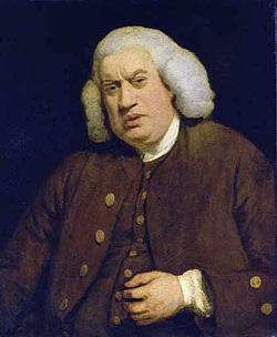 Samuel Johnson, por Joshua Reynolds (1772)