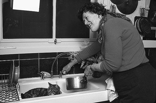 Ayudando a Julia a cocinar