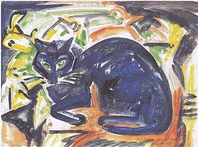 Bobby, el gato del artista (1919)