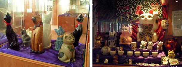 Algunas de las vitrinas del museo
