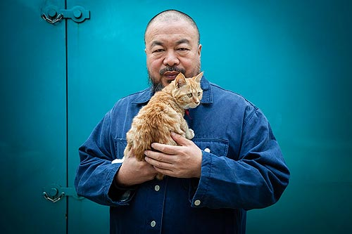Un gato de Ai Weiwei, (por Matt Robinson)
