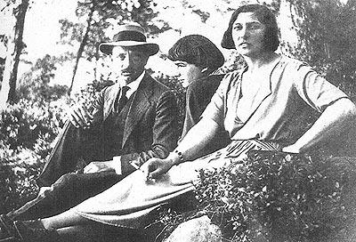 Rainer Maria Rilke, Balthus y su madre Baladine (1922)