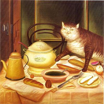 El gato glotón