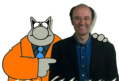 Philippe Geluck y Le Chat