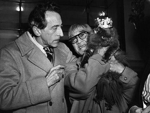 Cocteau y el pintor Foujita