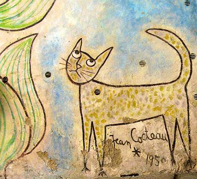 Detalle gato de la capilla de Sanit Blaise