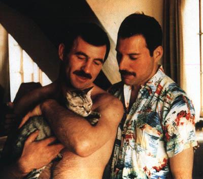 Jim Hutton, Freddie Mercury y Dorothy