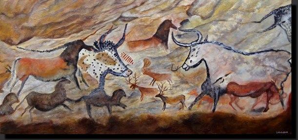 Los toros de la gruta de Lascaux
