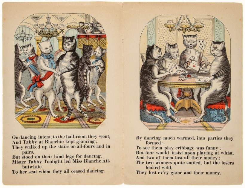 Fiesta de gatos,de Tom Mouser (1865)