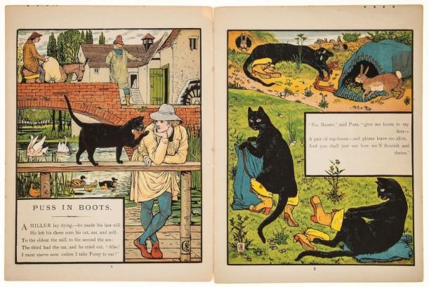 Ilustraciones de El gato con botas, de Walter Crane - 1875