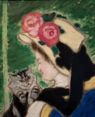 Mujer con gato (1909)