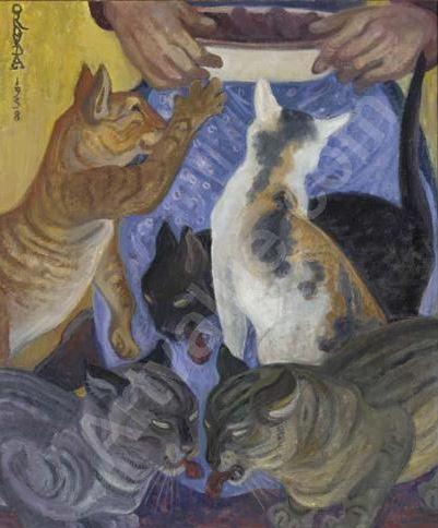 Gatos - Grabado