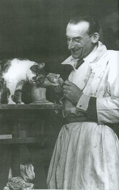 Jacques Lehmann y su gato