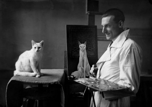 Jacques Nam pintando a MIkette