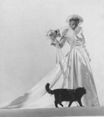 Blackie en un desfilé de moda para novias