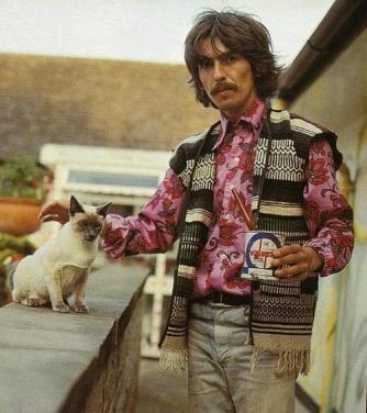 George Harrison con la posible antepasada de Offenbach