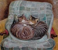 Marguerite Zorach (Dos gatos)
