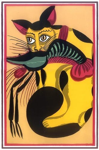 kalighat-painting-cat-eating-lobster-pa04_l