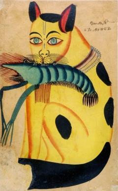 kalighat_paintings_lightbox_cat_with_prawn