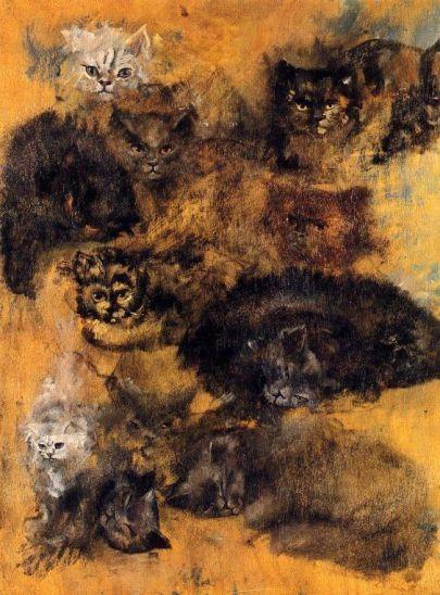 Los gatos (Óleo - 1952)