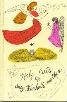 Santos gatos por la madre de Andy Warhol