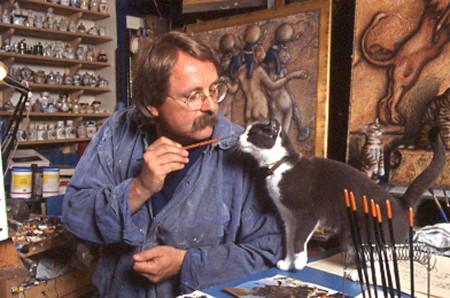 El pintor con Pastel