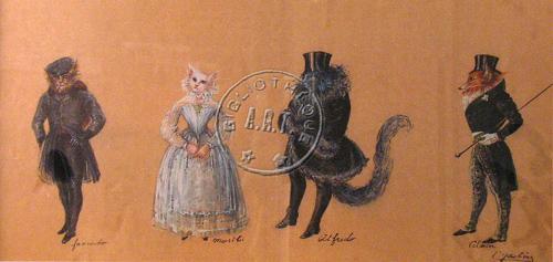 Los protagonistas de la obra teatral Penas de amor de una gata inglesa