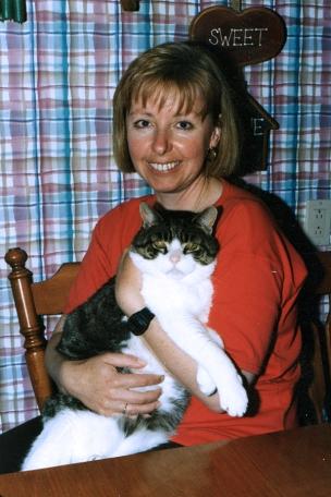 Con Thumper, el gato de una amiga