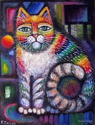 Gato arcoíris