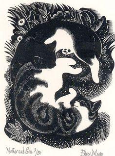 Del libro Feathers, ilustración de Eileen Mayo