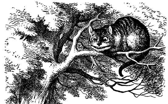El gato de Cheshire (de John Tenniel)