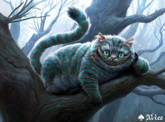 El gato de Cheshire visto por Tim Burton