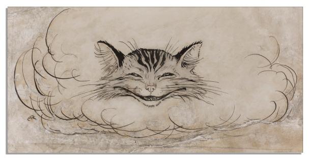 La cabeza del gato (de Arthur Rackham)