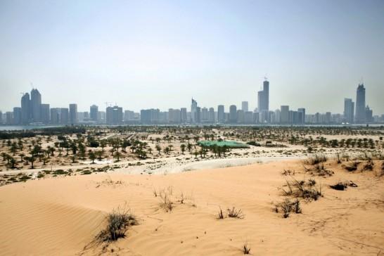 Abu Dabi visto desde Lulu Island