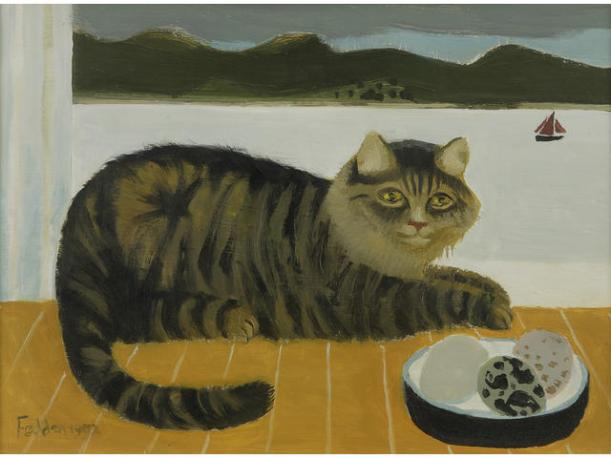 gato y barco