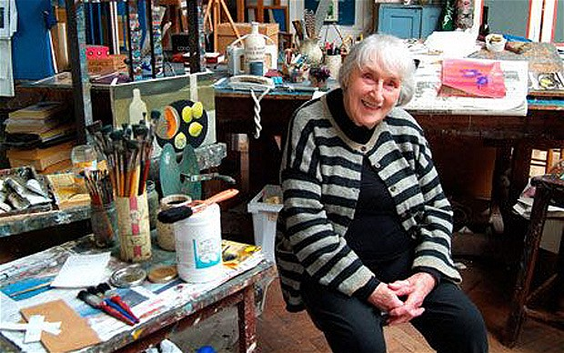 Mary Fedden en su estudio de Londres (May 2006)