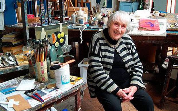 Mary Fedden en su estudio de Londres (May 2006)