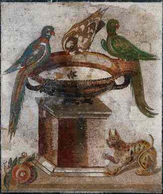 Mosaico romano, Museo Arqueológico de Nápoles (Capítulo 3)