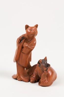 Gatos Netsuke (Siglo XIX)