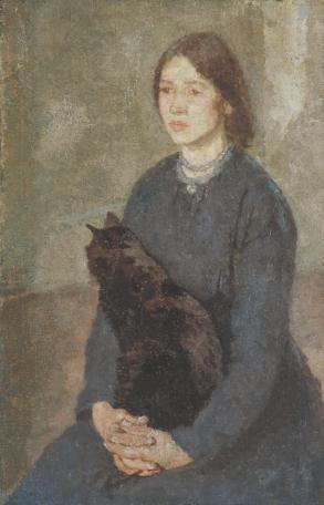 Joven con gato (1920)