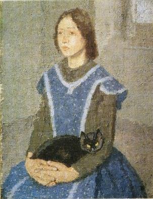 Joven con gato (1925)