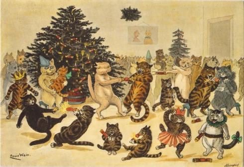 Louis Wain - Fiesta de Navidad