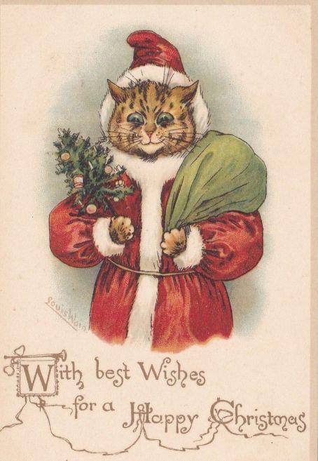 Louis Wain - Mejores deseos para la Navidad