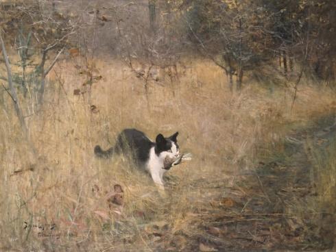 Gato cazando (1883)
