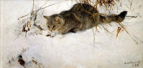 Gato cazando un ratón (1892)
