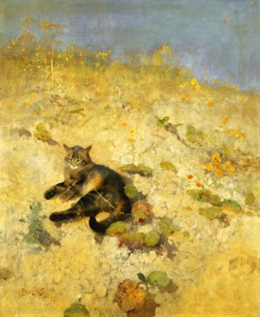 Gato tomando el sol (1884)