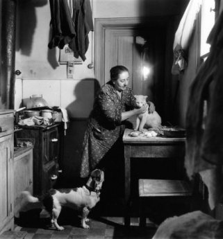 El gato blanco de la portera (1945)